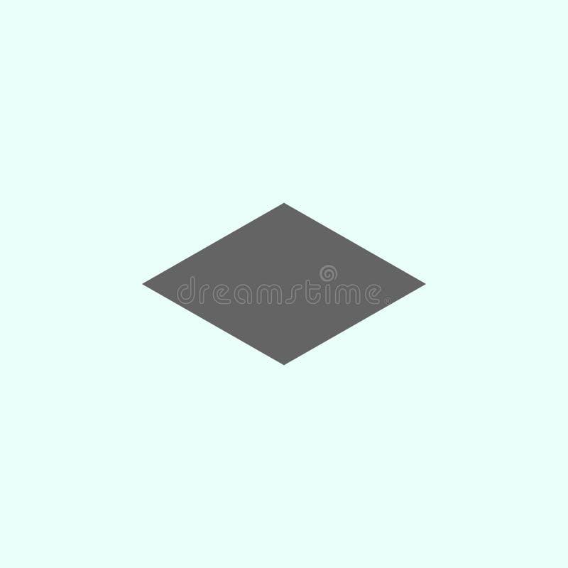 Geometriska diagram, rombsymbol Best?ndsdelar av geometriska diagram illustrationsymbol Tecknet och symboler kan anv?ndas f?r ren royaltyfri illustrationer
