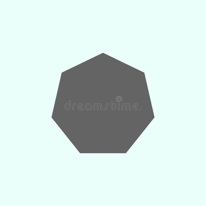 Geometriska diagram, sjuh?rningsymbol Best?ndsdelar av geometriska diagram illustrationsymbol Tecknet och symboler kan anv?ndas f vektor illustrationer