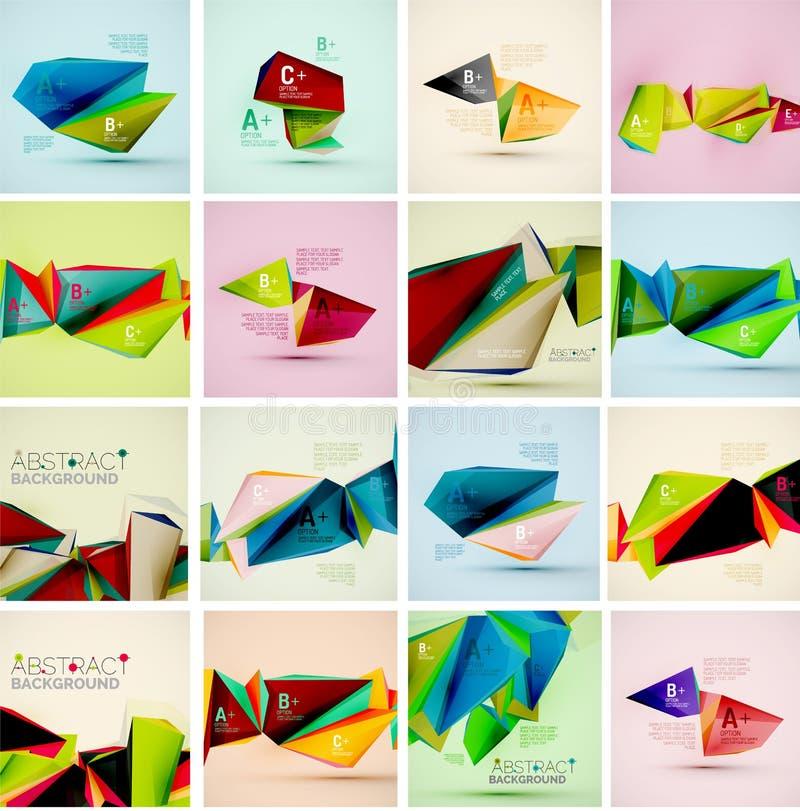 Geometriska former för triangel i luften vektor vektor illustrationer
