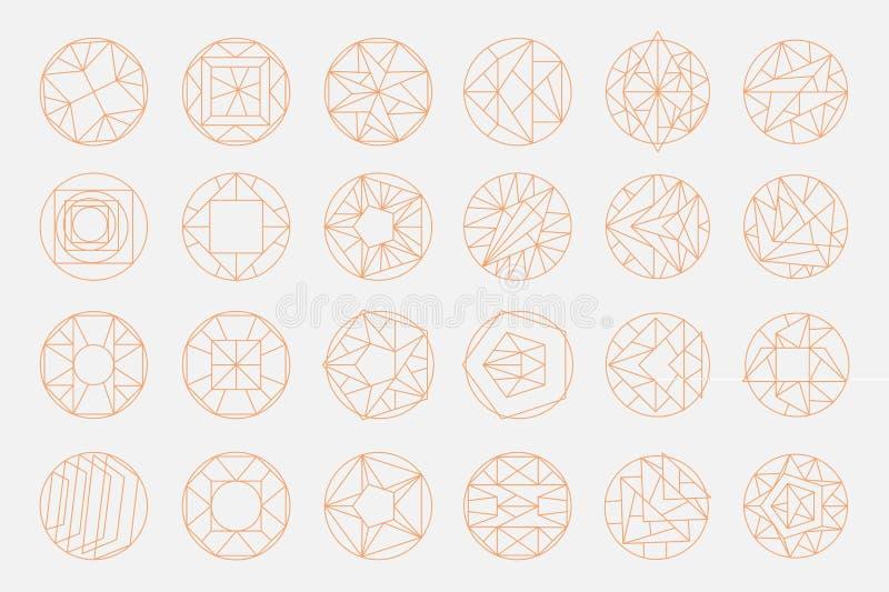 Geometriska former för vektor stock illustrationer
