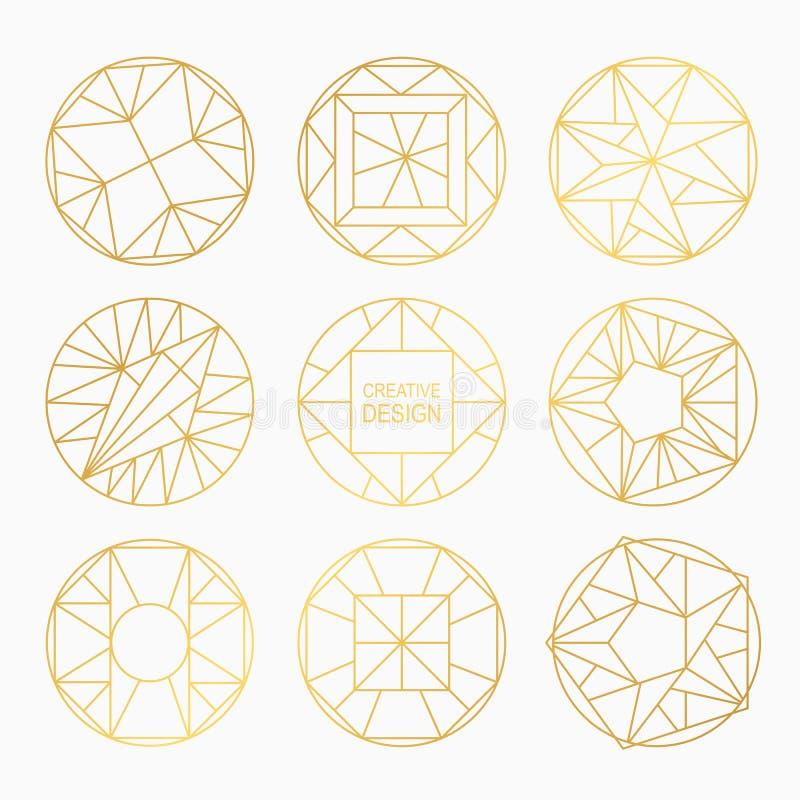 Geometriska former för vektor royaltyfri illustrationer