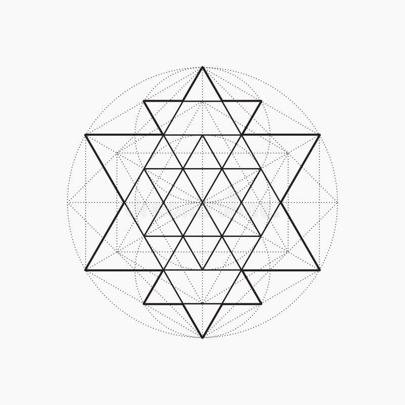 Geometriska former, linje design, triangel stock illustrationer