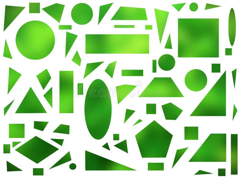 Geometriska former på en vit bakgrund royaltyfri illustrationer