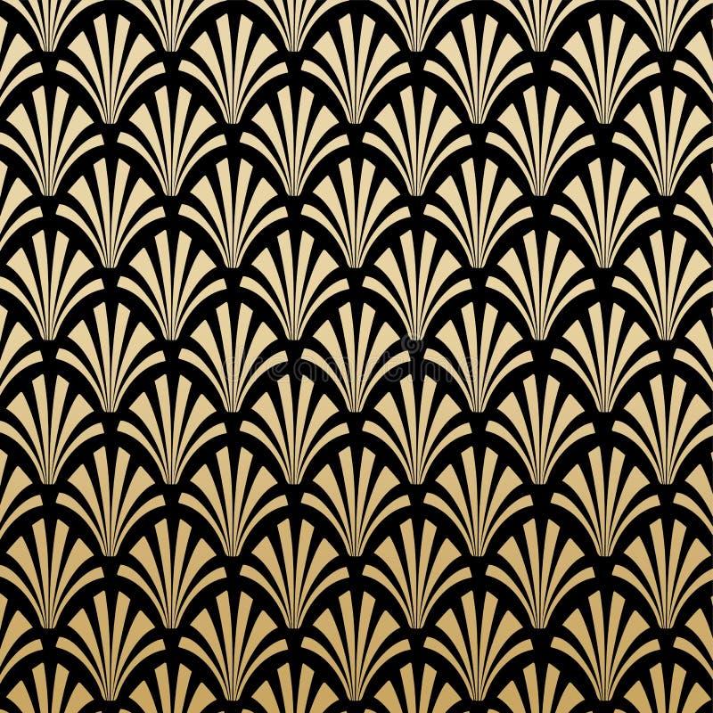 Geometriska Gatsby Art Deco Pattern Background Design vektor illustrationer