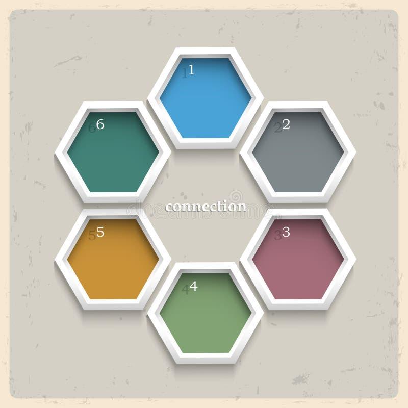 geometriska kulöra numrerade baner 3d royaltyfri illustrationer