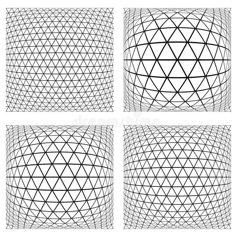 geometriska latticed texturer 3D vektor illustrationer