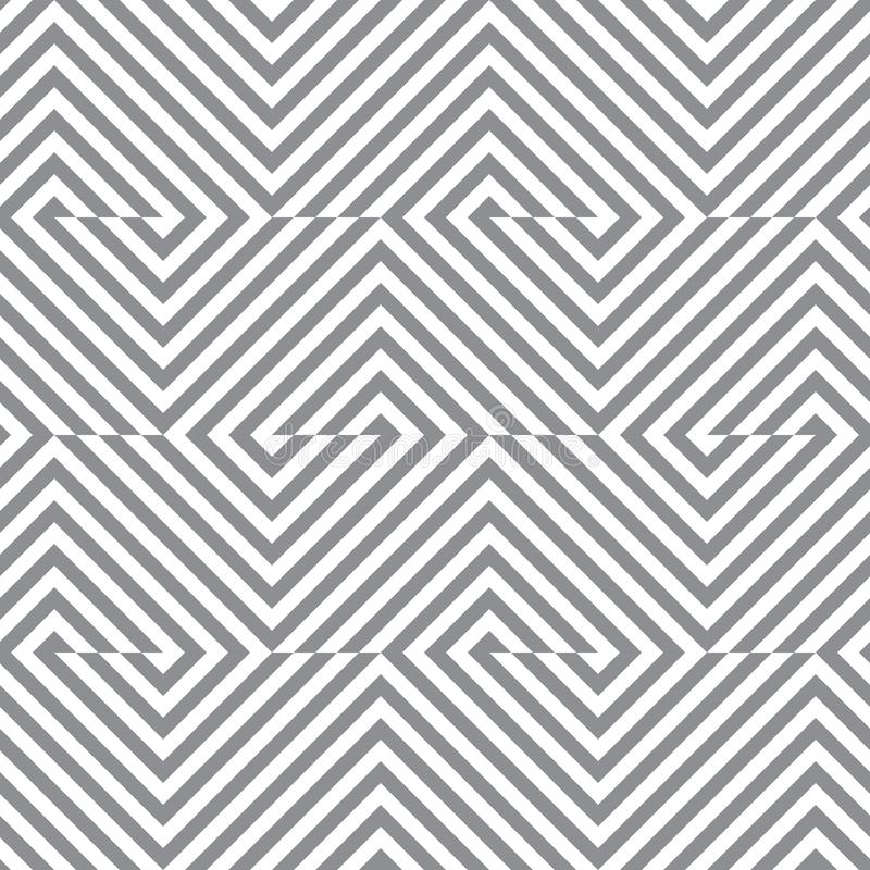 Geometriska linjer s?ml?s modell f?r vektor Modern monokrom textur med band stock illustrationer