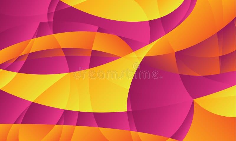 Geometriska lutningformer för abstrakt kurva vektor illustrationer