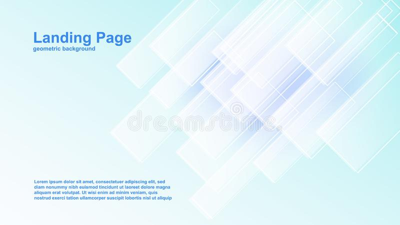 geometriska mallar för färgbakgrundsvektor för att landa sidan också som är passande för tidskrifträkning vektor illustrationer