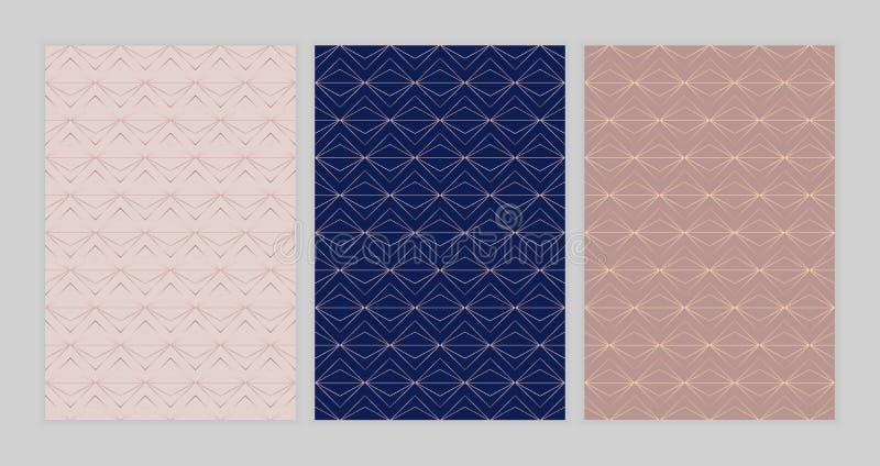 Geometriska mallar för mode för instagramberättelser, socialt massmedia, reklamblad, kort, affisch, baner Modern räkningsdesign m stock illustrationer