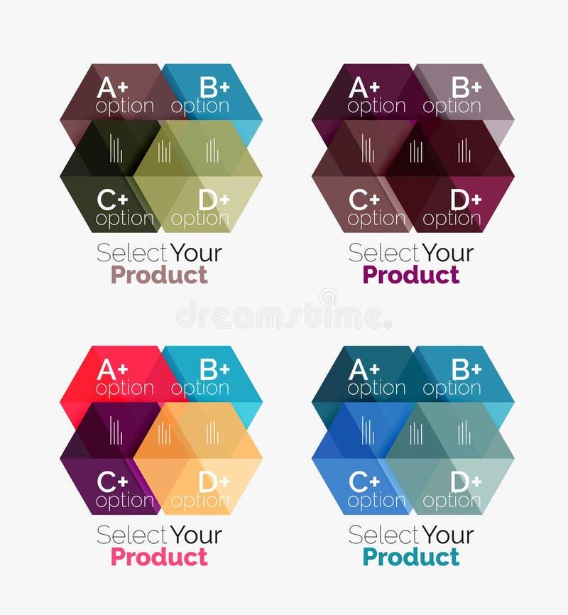 Geometriska orienteringar för affär med alternativtext royaltyfri illustrationer