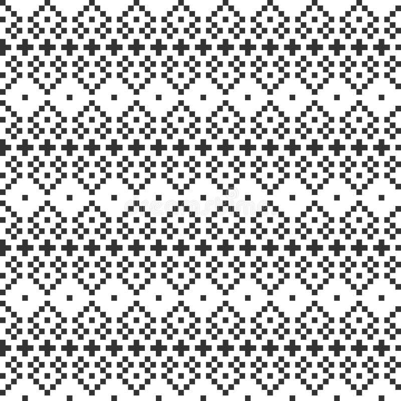 Geometriska sömlösa modellbakgrunder för PIXEL vektor illustrationer