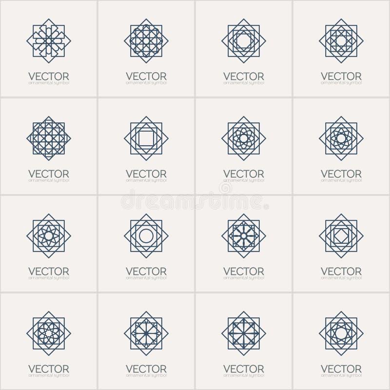 Geometriska symboler för vektor stock illustrationer
