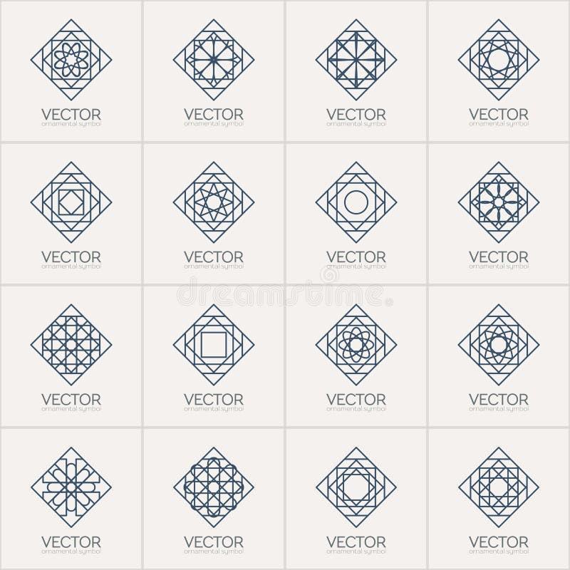 Geometriska symboler för vektor royaltyfri illustrationer