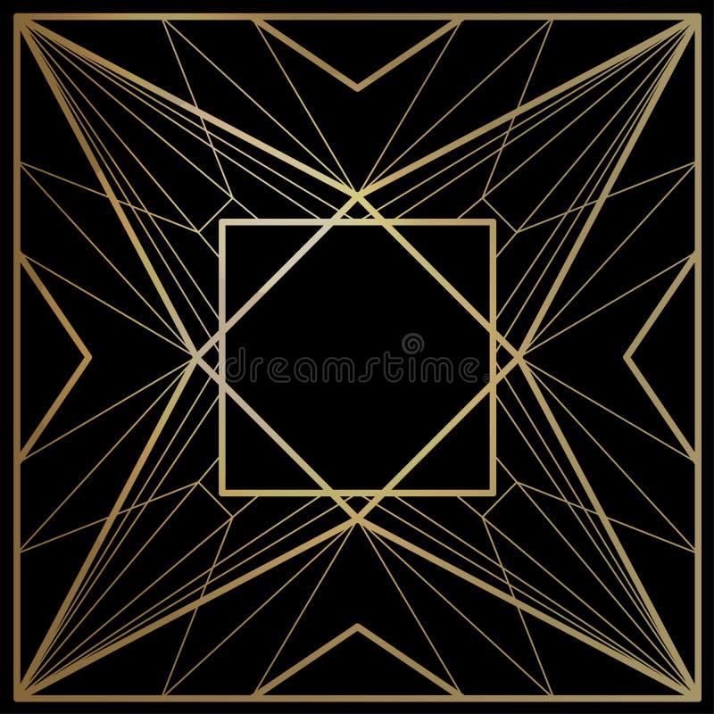 Geometriska vektorramar stock illustrationer