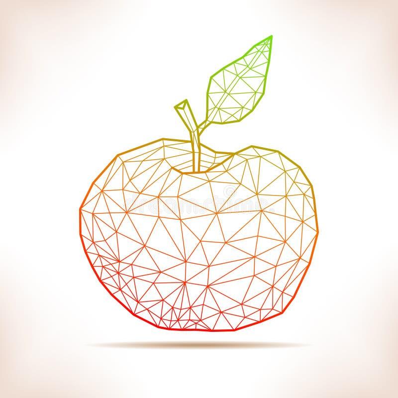 Geometriskt äpple stock illustrationer