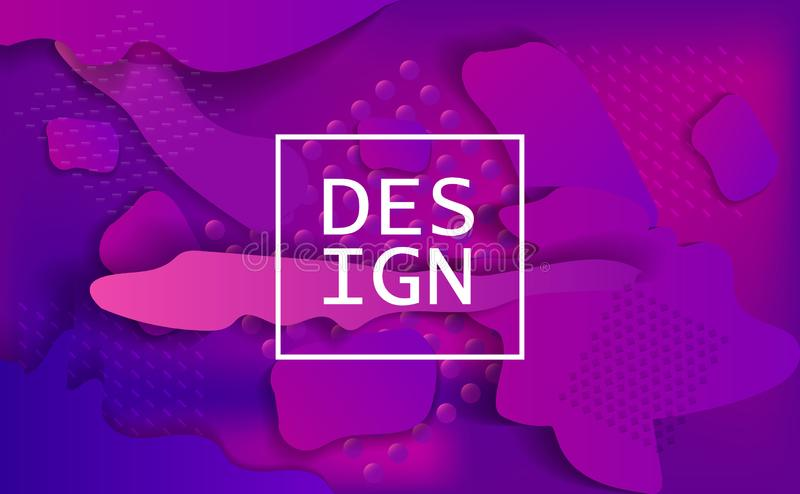 Geometriskt baner Minsta designaffischer stock illustrationer