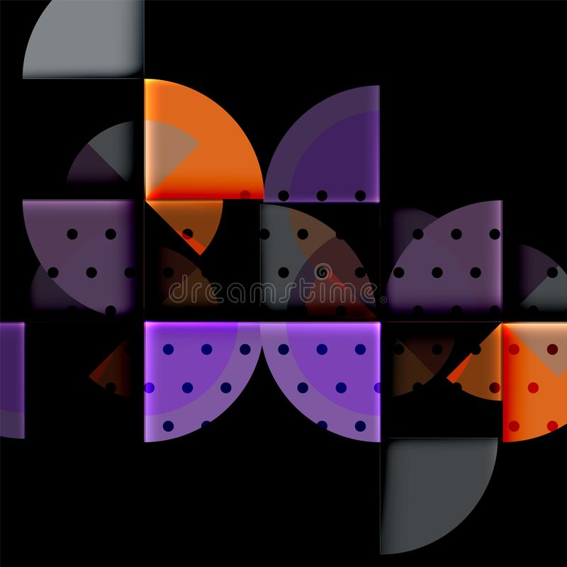 Download Geometriskt Cirkelabstrakt Begreppbaner Vektor Illustrationer - Illustration av kort, färgrikt: 106825883