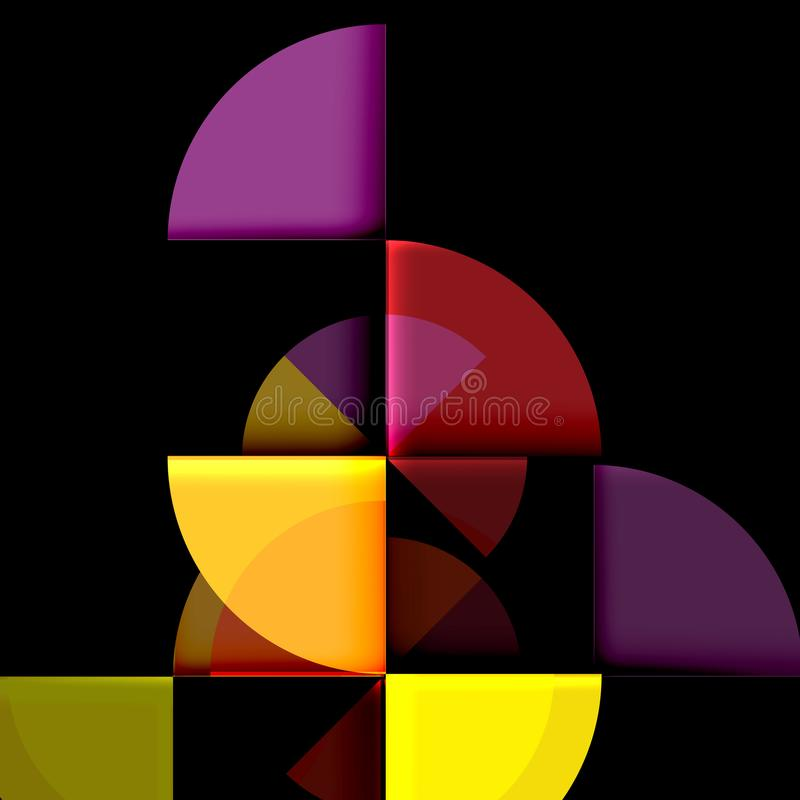 Download Geometriskt Cirkelabstrakt Begreppbaner Vektor Illustrationer - Illustration av futuristic, idérikt: 106825894