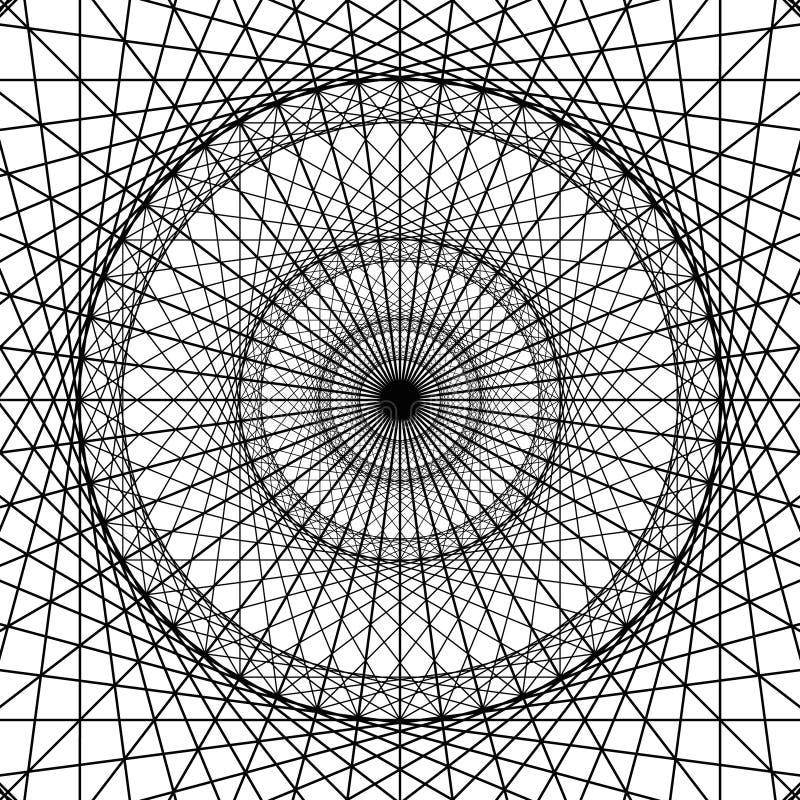 Geometriskt diagram från sakrala geometribeståndsdelar stock illustrationer