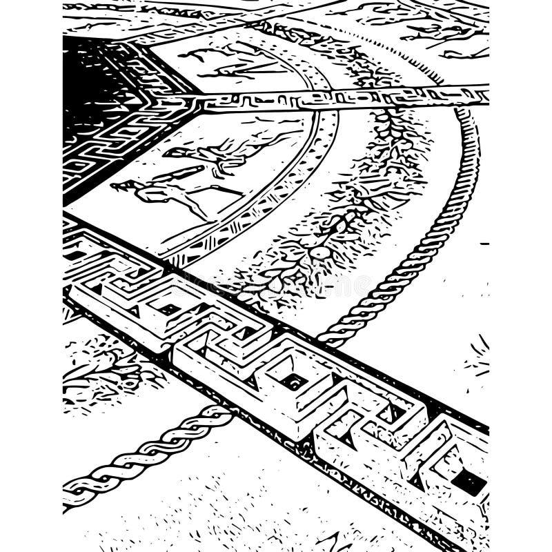 Geometriskt golv arkivfoton