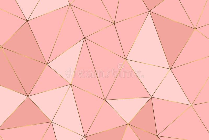geometriskt guld- för bakgrund vektor illustrationer