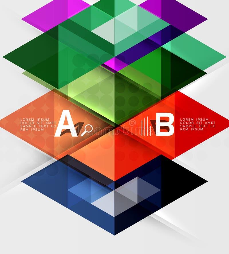 Geometriskt infographic baner för triangel royaltyfri illustrationer