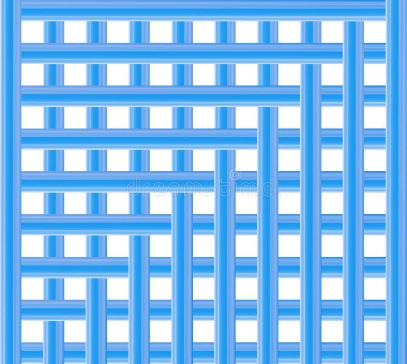 Geometriskt kors för effekt för bakgrundsspjällådablålinjen royaltyfri illustrationer
