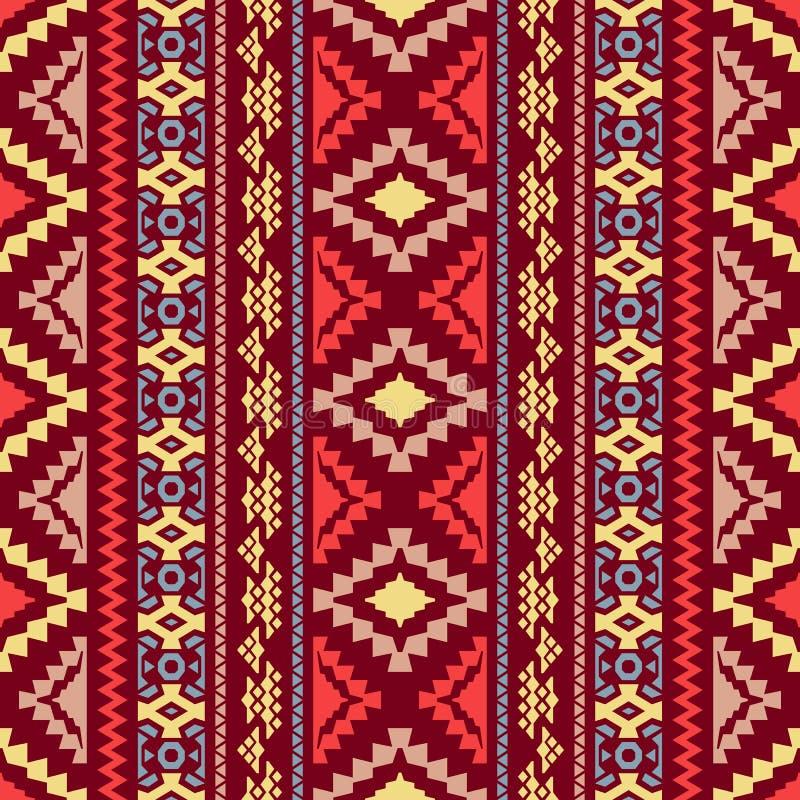 geometriskt seamless för bakgrund Stam- och etniska motiv royaltyfri illustrationer
