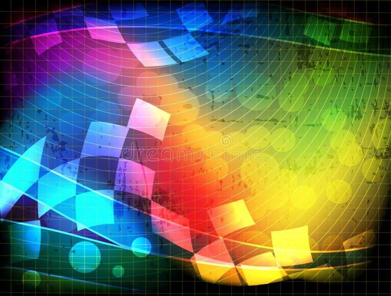 geometriskt spektral- för element vektor illustrationer