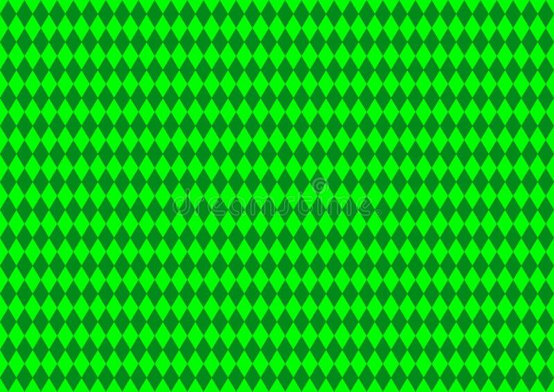 Geometriskt Techno orientaliskt dekorativt i tapet för bakgrund för modell för grön färg för neon sömlös royaltyfri illustrationer