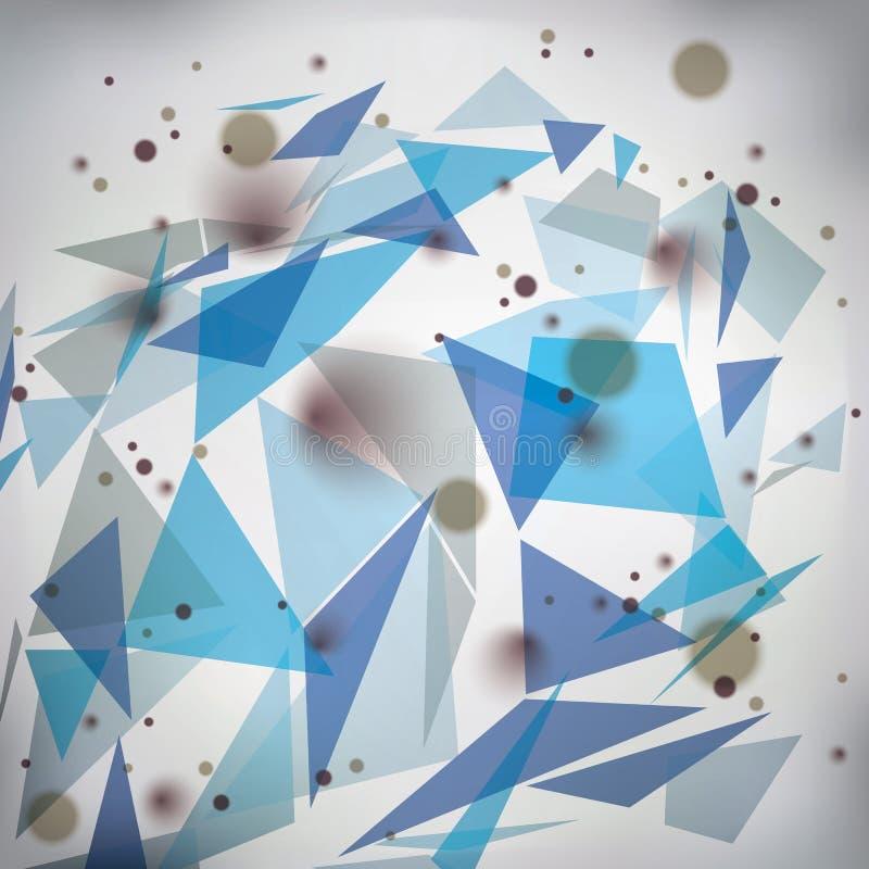 Geometriskt vektorabstrakt begrepp 3D försvårade bakgrunden för op konst, den begreppsmässig illustrationen för tech som eps10 va vektor illustrationer
