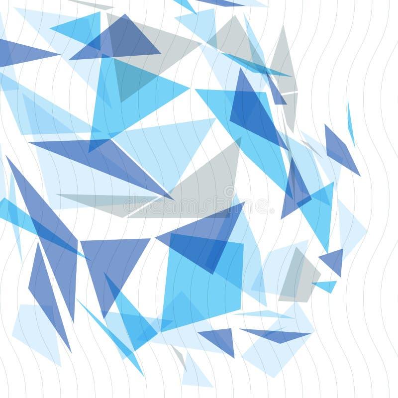 Geometriskt vektorabstrakt begrepp 3D försvårade bakgrunden för op konst, den begreppsmässig illustrationen för tech som eps10 va royaltyfri illustrationer