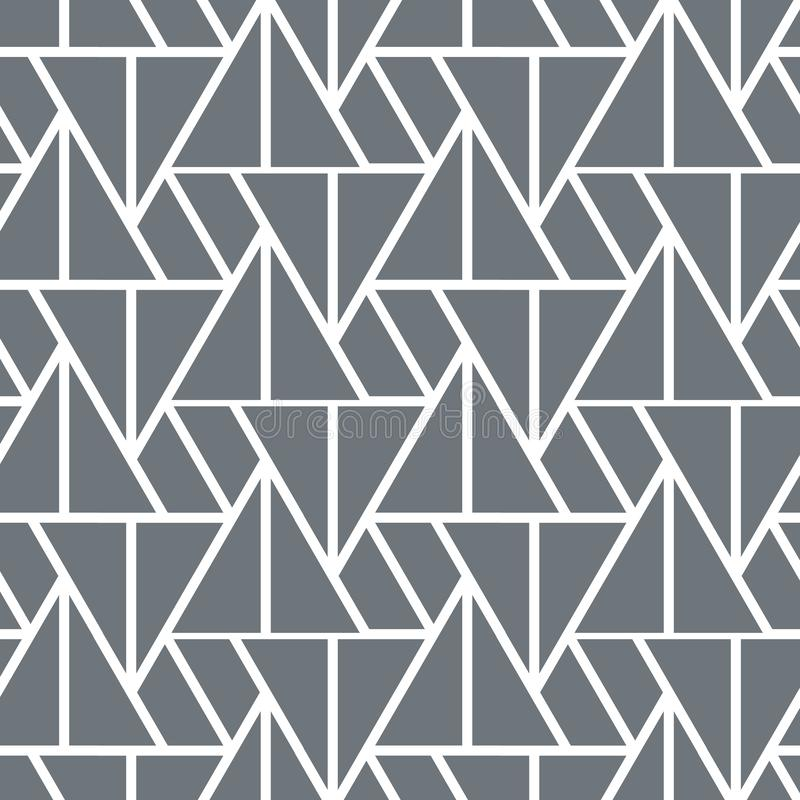 Geometriskt vektormönster, repetera linjär triangel i olika storlekar Grafik ren för tyg, tapeter, tryckning royaltyfri illustrationer