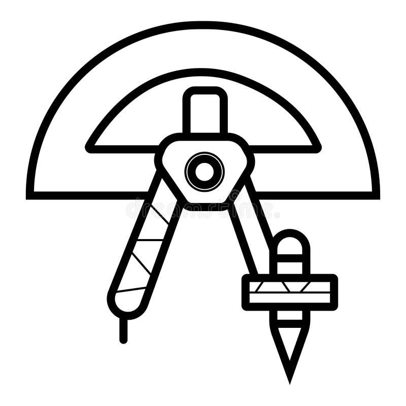 Geometrisymbolsvektor royaltyfri illustrationer