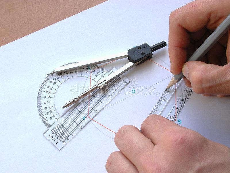 Download Geometry stock photo. Image of drawing, desk, compasses, draw - 6334