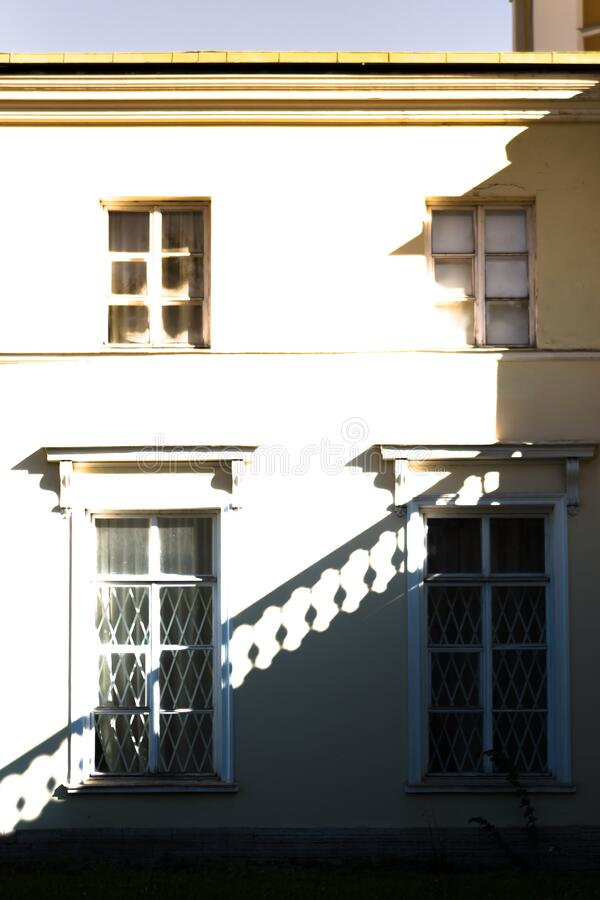 Geometry in architecture. Lights and shades. stock image