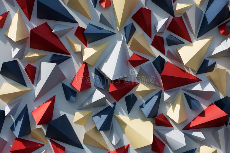 Geometry background. Geometrical multicolor triangles abstract background royalty free stock image