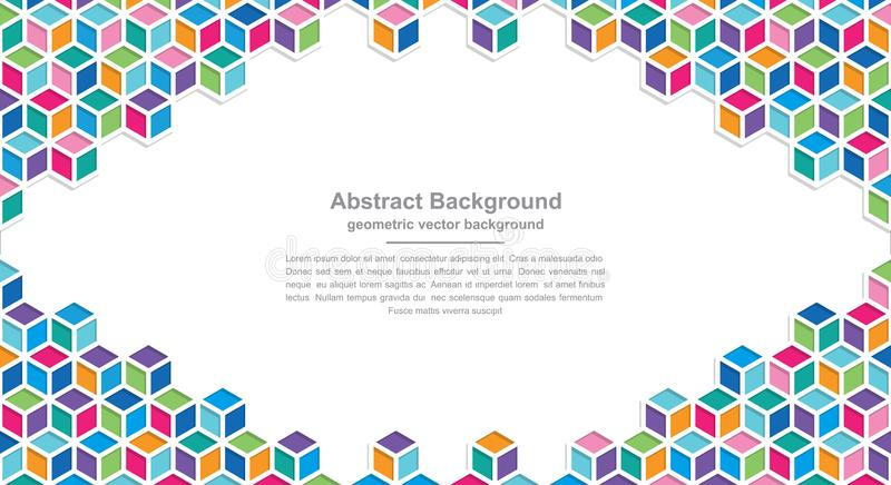 Geometry backgrounds with modern colorful combinations with blank spaces in the middle for your text. Eps10 vector background vector illustration