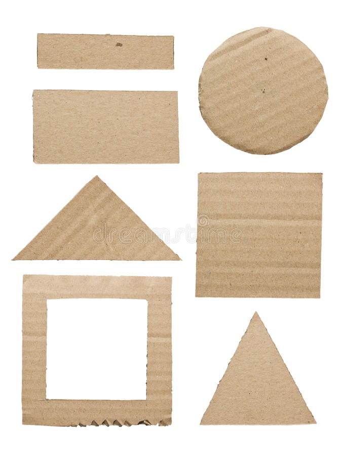 Geometry cardboard royalty free stock images