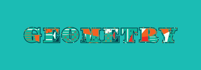 Geometry Concept Word Art Illustration royalty free illustration