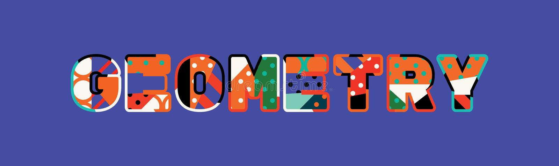 Geometry Concept Word Art Illustration vector illustration