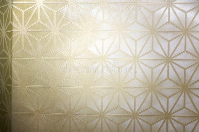 Geometry in cube pattern shape on old wallpaper texture. Geometry in cube pattern shape stock photography