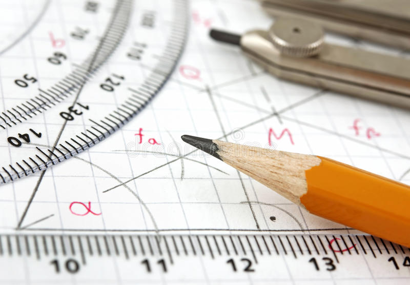 Geometry drawing royalty free stock photography