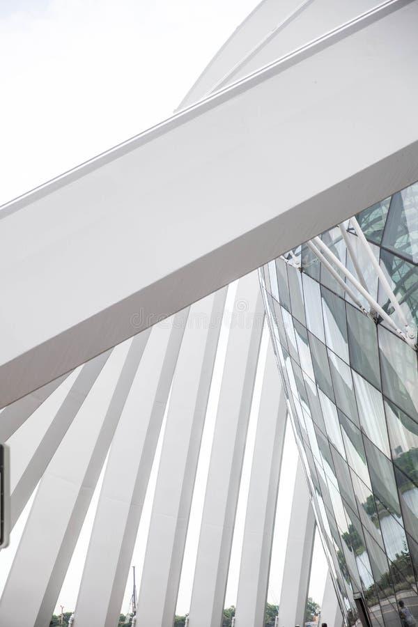 Geometry glass roof stock photos