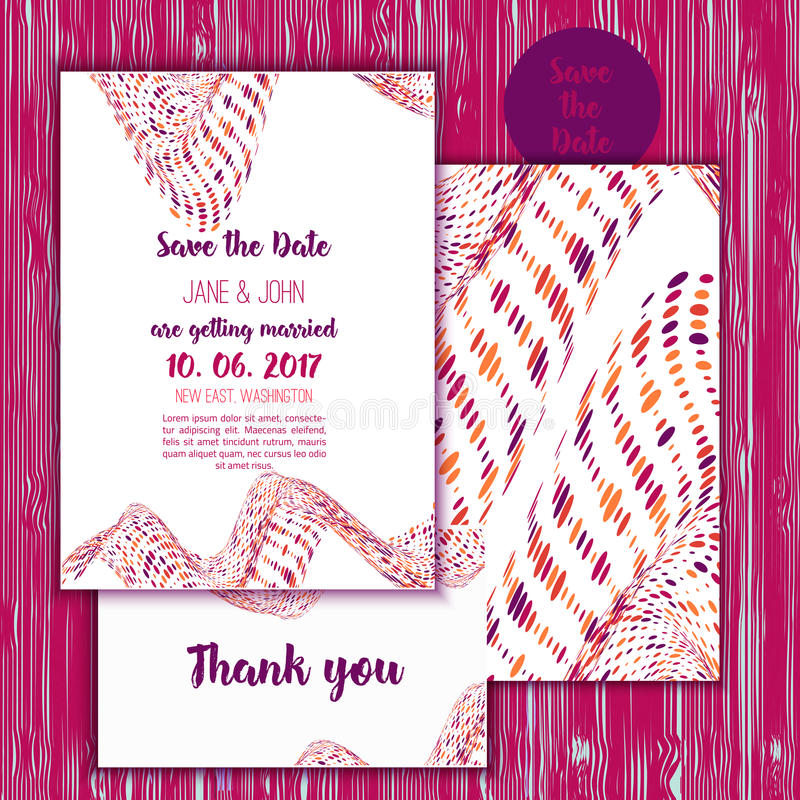 Geometry save the date card with modern colorful shapes wedding download geometry save the date card with modern colorful shapes wedding anniversary celebration party invitation stopboris Image collections