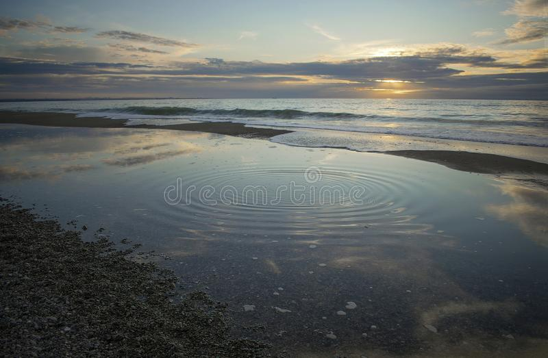 Geometry of the sea in autumn royalty free stock photography