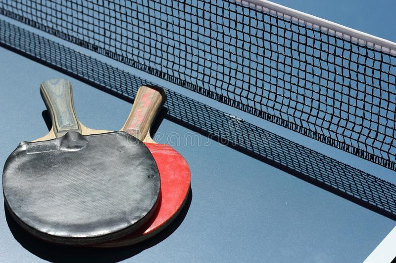 Geometry in sports. Geometric figures in table tennis stock photos