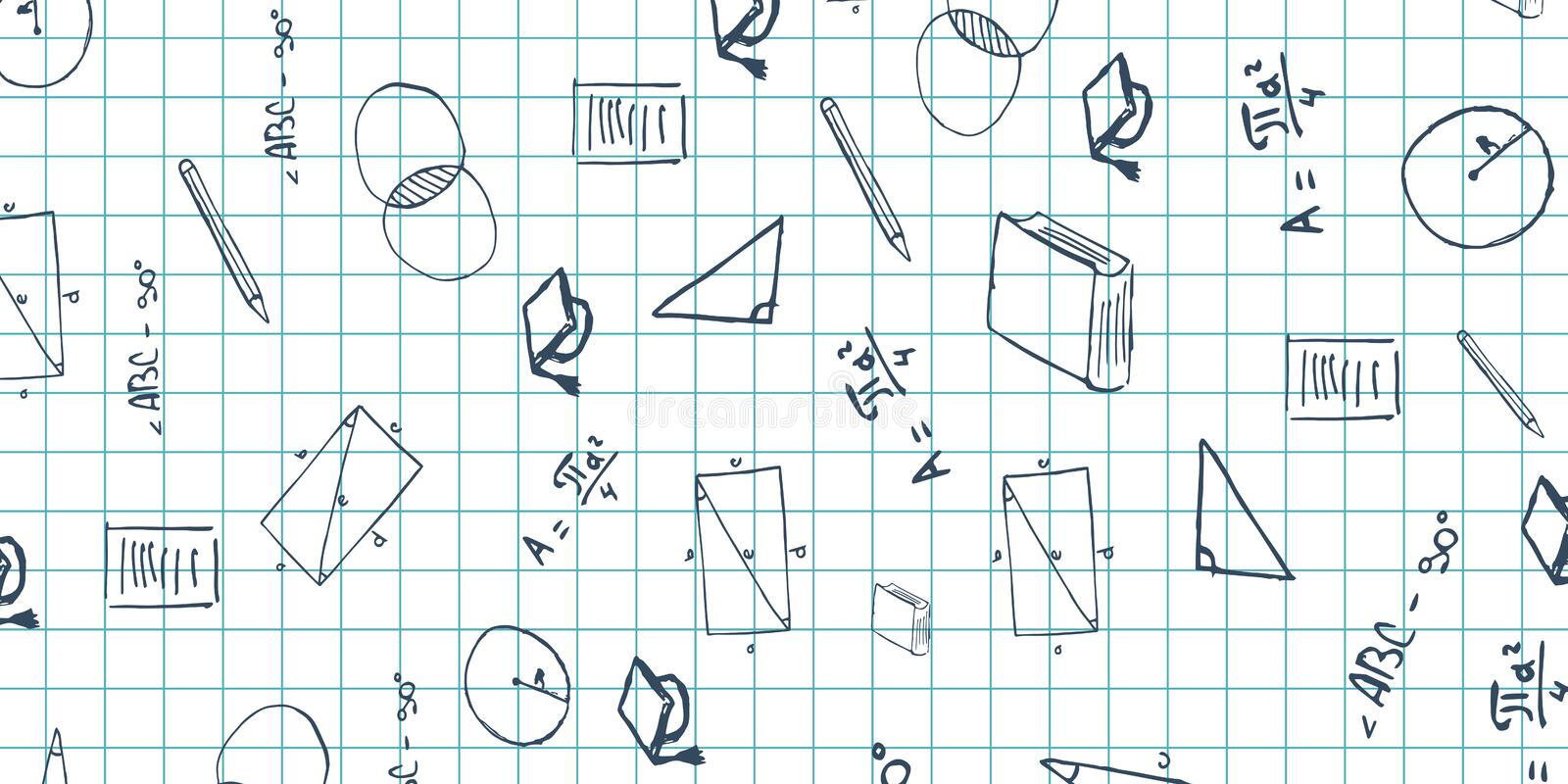 Geometry Subject Back To School Background Education Banner Stock