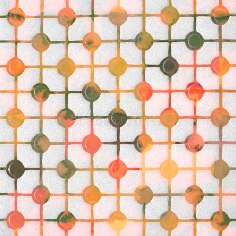 Geometry texture classic modern repeat pattern. With watercolor effect vector illustration